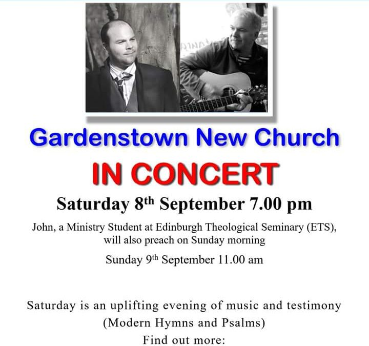 Jimmy Gunn and John Alexander Wilson in concert Saturday 8th September