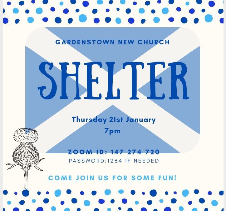 Shelter meets on the 21st January